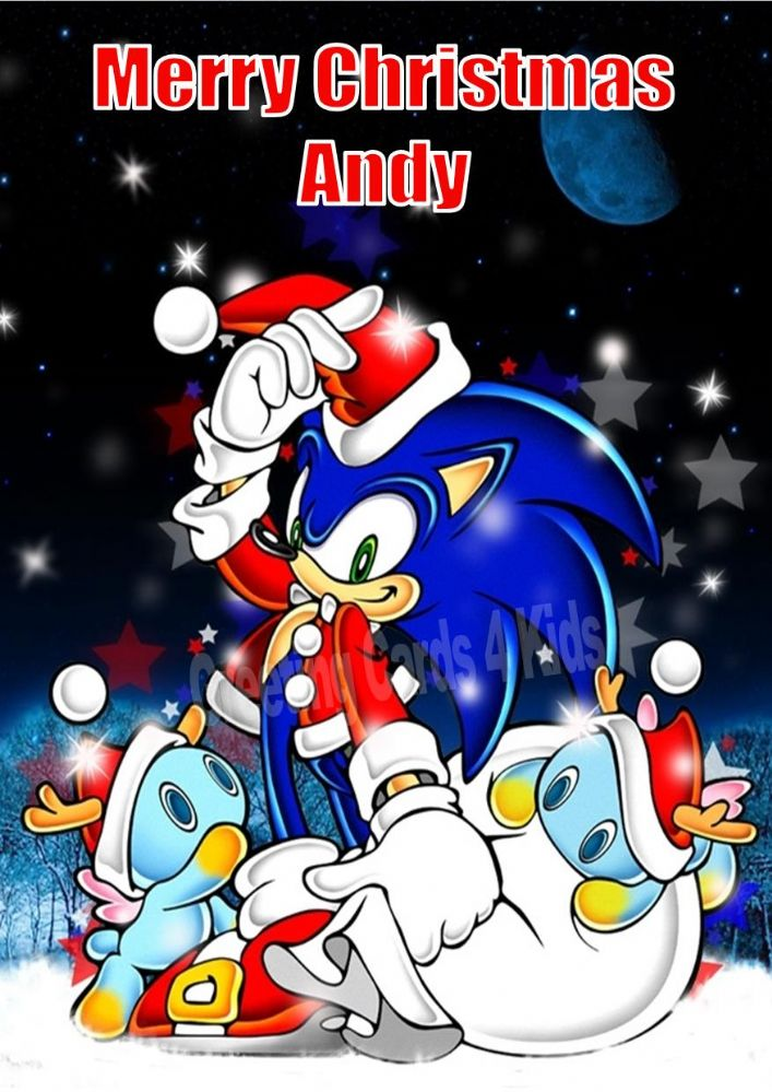 Personalised Sonic Christmas Card 2